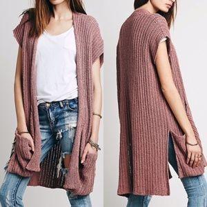 Free People 'Sloppy Pocket' Long Cardigan Size MD